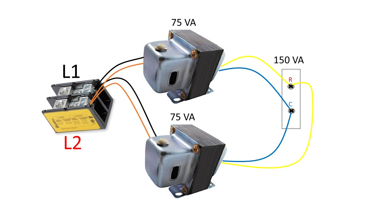 Connecting Transformers in Parallel - HVAC School | Hvac Transformer Wiring System 2 |  | HVAC School