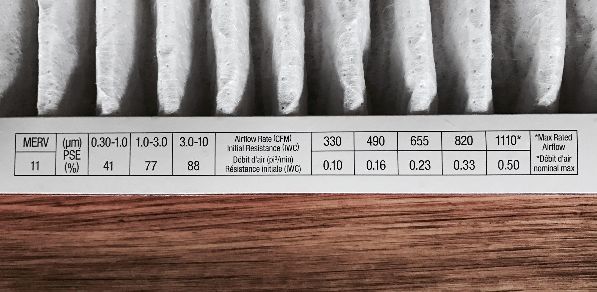 Air Filter Static Pressure Drop